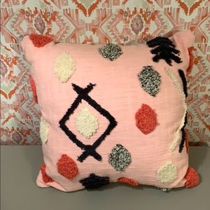 Target Boho Pink Throw Pillow